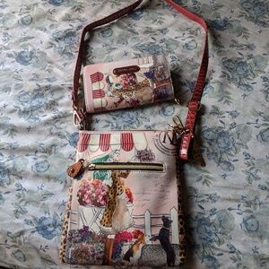 Nicole lee hand bag and wallet set